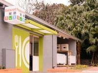 哈密瓜MOTEL-竹北館-餐廳入口及自助洗衣區
