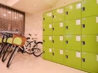 奇異果快捷旅店-中正店-腳踏車與置物櫃