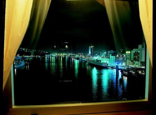 客房即可觀賞基隆港夜景