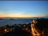 藍色水岸淡水海景旅店-窗外夜景實景