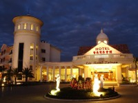 台南商務會館-飯店外觀夜景