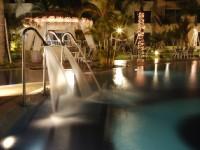 台南商務會館-水療池夜景