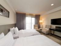彰化福泰商務飯店-高級雙床房床組
