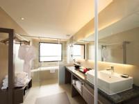 彰化福泰商務飯店-半開放式浴室