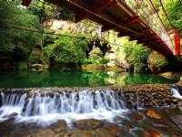 杉林溪森林生態渡假園區-松瀧瀑布小橋流水