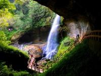 杉林溪森林生態渡假園區-黃金山淞瀧岩瀑布
