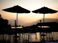 佳美休閒渡假山莊-觀景廊道夜景