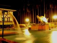 歐都納山野渡假村-兒童戲水池夜景