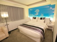 華園飯店-時尚品味房-自由藍